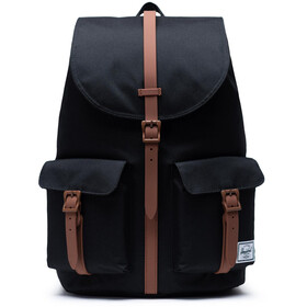 Herschel Dawson Mochila, black/saddle brown